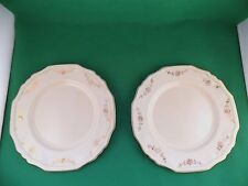 Alfred Meakin Gold Swags Green Band Dinner Plates x 2