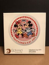 Vintage Schmid 1979 Valentines Day Walt Disney Collectors Plate Mickey & Minnie