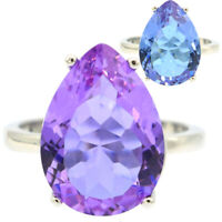 18x13mm Special Color Changing Alexandrite Topaz For Woman's Silver Rings 10.25