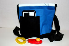 DOG TRAINING TREAT BAG, Bait Bag, Dog Obedience Pouch + FREE CLICKER -Royal Blue
