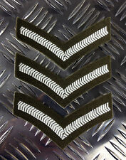 Genuine British Army Rank Stripes / Chevrons / Badges / Patches - Brand NEW x 3