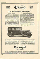 "original large black and white  advert "" the new daimler twenty five  ""  1930"