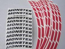 Ducati Corse racing Monster rosso nero Rim Adesivo Set per entrambi Ruote