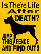 """Cane Corso Guard Dog Aluminum Sign Vinyl Decal 12"""" x 9"""" Vinyl Graphics 2197Cc"""