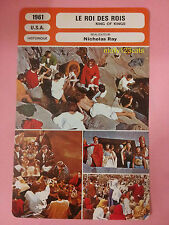 American Biblical MGM Epic Film King of Kings French movie Trade Card
