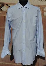 Next Luxury Pure Cotton Seersucker Design Summer London 16/32 French Cuff Shirt
