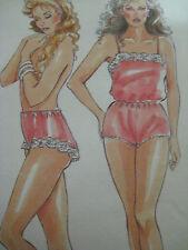 Vintage New Look 6311 LOVELY CAMISOLE TEDDY SLIP Sewing Pattern Women Sz 8-18