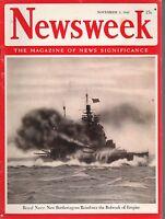 1942 Newsweek November 2-French shun work in Reich; Malibut fires; Guggenheim