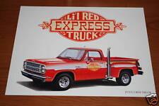 ★★1979 DODGE LI'L RED EXPRESS MOPAR ART 78 79 TRUCK LIL LITTLE RED PICKUP★★