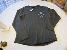 Men's Volcom stone surf skate brand long sleeve shirt L large black heather NWT