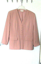 """PERRIE Sz 16   STYLISH PINK LINED JACKET BACK 29""""   POLYESTER & VISCOSE"""