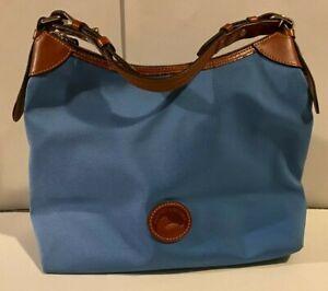 Dooney and Bourke Blue Large Nylon Erica Hobo Pocketbook