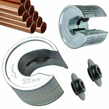 Tube Cutter 15 & 22mm Pipe Slice 2 x Extra Rotary Blades Pipeslice Copper Pipes