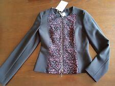 Penny Veste Noire par Maxmara Noir et Rose Taille 10 Neuf avec étiquettes