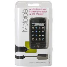 BRAND NEW Motorola CLIQ Snap On Case, Screen Protector & Micro USB Car Charger