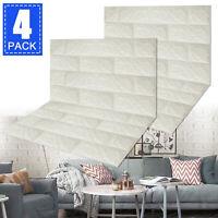 4X 3D Foam Waterproof Tile Brick Wall Sticker Self Adhesive Panel Embossed Decor
