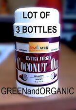 Premium 48oz Extra Virgin COCONUT OIL Unrefined Cold Pressed Organic 3 x 16oz Lb