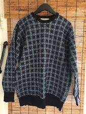 Alan Paine England Mens Sweater Crew Neck Size M L Blue Ski Winter