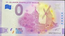 BILLET 0 EURO ALLAUCH CHAPELLE ET MOULIN ANNIVERSARY FRANCE  2021  N° DIVERS