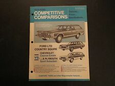 1973 FORD LTD COUNTRY SQUIRE COMPETITIVE COMPARISONS DEALER ALBUM BROCHURE RARE