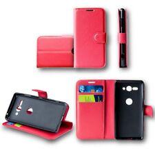para Nokia 6 2018 Cartera De Bolsillo Premium Rojo Cubierta de la caja de sobres