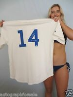 Ernie Banks signed autograph Chicago Cubs 1953 ROOKIE authentic Majestic jersey