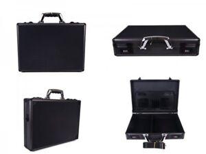Black Aluminium executive laptop brief flight case briefcase storage box bag