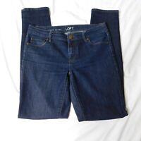 Ann Taylor LOFT Womens Jeans Size 27 / 4 Modern Skinny Stretch Denim Dark Wash