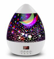 Star Sky Night Lamp,Star Projector with Timer,Rotating Night Light for Kids