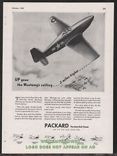 1943 WWII North  American P-51 MUSTANG WWII WW2 Packard Aircraft Engine AD