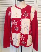 Sequin Cardigan Snowflake Sweaters for Women | eBay