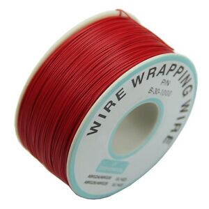 0.25mm Wire-Wrapping Wire 30AWG Cable 305m New Red Y5O1