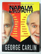 """GEORGE CARLIN """"NAPALM & SILLY PUTTY"""" #1 New York Times Bestseller Book Paperback"""