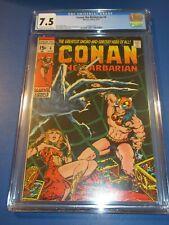 Conan the Barbarian #4 Bronze age Barry Smith Key CGCC 7.5 VF- Beauty Wow