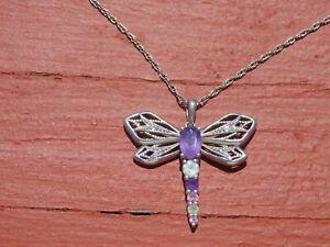 Sterling & gemstone necklace