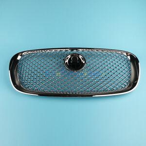 Front Radiator Center Mesh Grille Grill Chrome C2Z3832 For Jaguar XF XFR