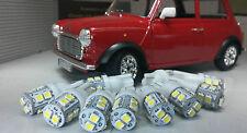 AUSTIN MINI SMITHS Dash 2 3 Horloge Jauge DEL complet 9 ampoule Set Kit blanc T10