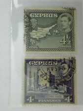 (RB 096) 1934 Cyprus KGVI Stamps - Used