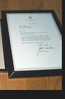 JOE BIDEN AS VP SIGNED B'DAY LETTER KOREAN WAR VET APRIL 27 2014