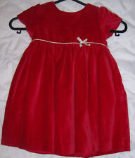 John Lewis Red Velvet Baby Dress.Size 9-12 months.Xmas. Party.