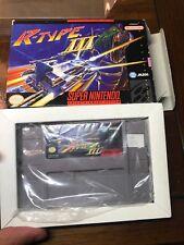R-Type III 3 Third Lightning (Super Nintendo SNES) in Box GOOD NO Manual