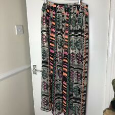 Next Multicoloured Geometric Patterned Skirt Size 16 Sheer Holiday Beach UK
