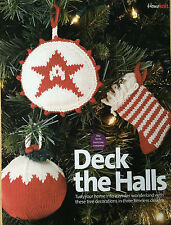 KNITTING PATTERN 3 Christmas Tree Decorations Stocking Star Pudding Bauble