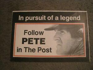 PETE ROSE  Newspaper Rack Sign Cincinnati Post 1985 Reds
