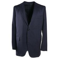 $3895 SARTORIA PARTENOPEA Navy-Gray Stripe Lightweight Wool Suit 42 R (Eu 52)