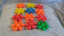 Set of 12 Pre Skool Fisher Price Jacks 1981 Preskool Toy