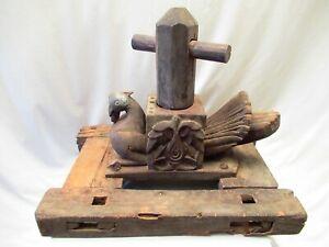 Antique Wooden Vermicelli Noodles Maker Pigeon Hand Pressed Maschin Murukku Old