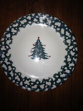 Christmas Folk Craft Winter Wonderland Salad Plates By Tienshan (set of 4)