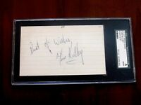 TOM KELLEY 1964-73 INDIANS BRAVES SIGNED AUTO VINTAGE INDEX CARD SGC AUTHENTIC