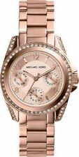 MICHAEL KORS MINI BLAIR CHRONOGRAPH WOMENS WATCH MK5613 ROSE GOLD DIAL RRP £229